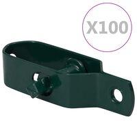 vidaXL Draadspanners 100 st 100 mm staal groen