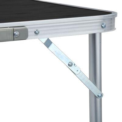 vidaXL Campingtafel inklapbaar 180x60 cm aluminium grijs