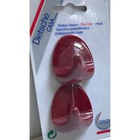Dietz Universele handdoekhaken zelfklevend (setje van 2) rood