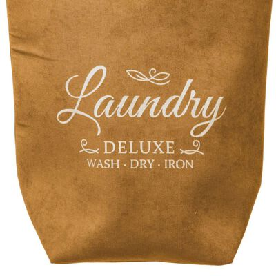 Decopatent XL Wasmand 80L - Tekst Deluxe Laundry -> Wash Dry Iron -