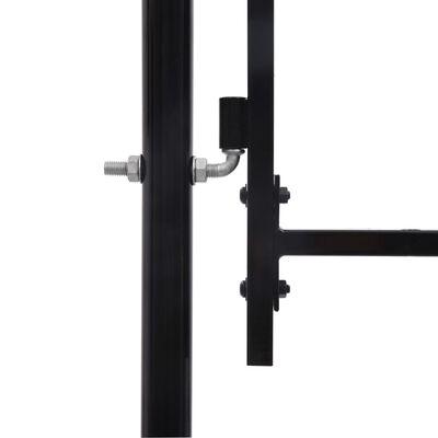 vidaXL Poort met puntige bovenkant enkel 1x1,75 m staal zwart