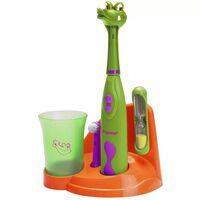 Bestron elektrische tandenborstelset voor kinderen krokodil DSA3500A
