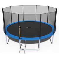 Trampoline - Blauw - 465 Cm - Met Net En Ladder - Tot 180 Kg