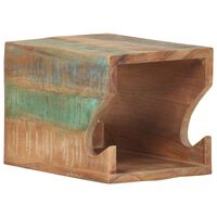vidaXL Wandfietsenrek 35x25x25 cm massief gerecycled hout