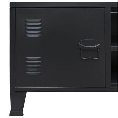 vidaXL Tv-meubel industriële stijl 120x35x48 cm metaal zwart