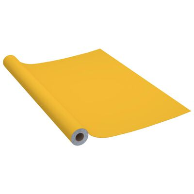 vidaXL Meubelfolie zelfklevend 500x90 cm PVC hoogglans goudkleurig