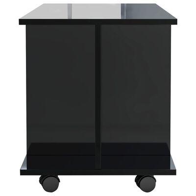 vidaXL Tv-meubel met wieltjes 80x40x40 cm spaanplaat hoogglans zwart