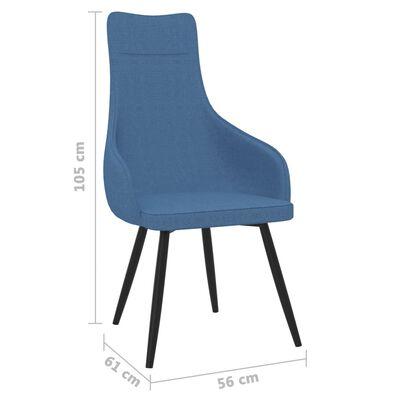vidaXL Fauteuil stof blauw