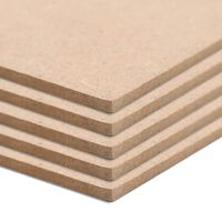 vidaXL MDF platen vierkant 60x60 cm 12 mm 8 st