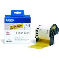 Brother DK-22606 Etiket Zwart op geel (62  mm)
