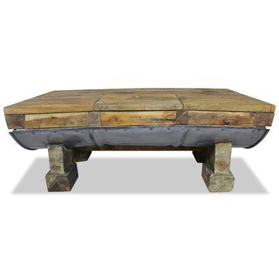 vidaXL Salontafel 90x50x35 cm massief gerecycled hout