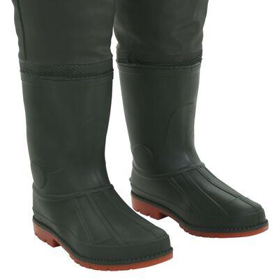 vidaXL Waadbroek met laarzen maat 41 groen