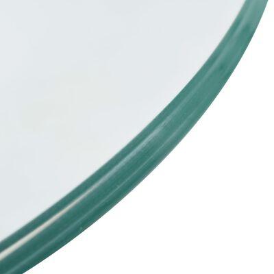 vidaXL Salontafels 2 st met rond glazen blad hoogglans grijs