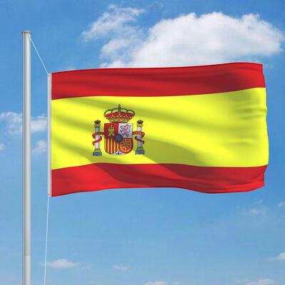 vidaXL Vlag met vlaggenmast Spanje 6,2 m aluminium