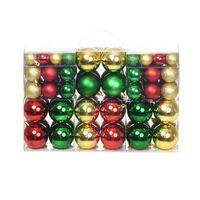 Kerstballen 100 st rood/goudkleurig/groen