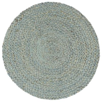 vidaXL Placemats 4 st rond 38 cm jute olijfgroen