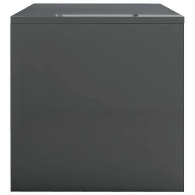 vidaXL Salontafel 100x40x40 cm spaanplaat hoogglans grijs