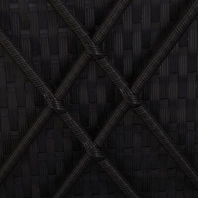 vidaXL Ligbed met kussen converteerbaar poly rattan zwart