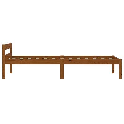 vidaXL Bedframe met 2 lades massief grenenhout honingbruin 90x200 cm