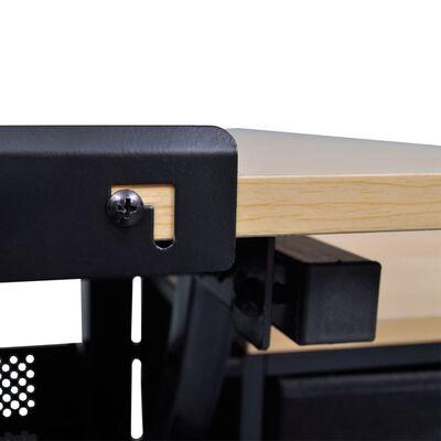 vidaXL Tekentafel met kastje + kruk