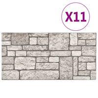 vidaXL 11 st Wandpanelen 3D grijze baksteen EPS