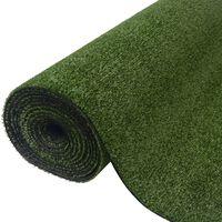 vidaXL Kunstgras 1,5x8 m/7-9 mm groen