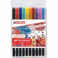 Edding 1340 brushpennen in etui - 10 kleuren