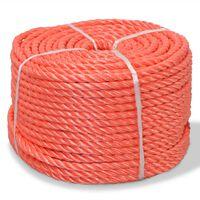 vidaXL Touw gedraaid 12 mm 500 m polypropyleen oranje