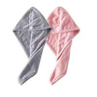 2-pack microvezel haarhanddoek - grijs / roze