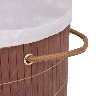 vidaXL Wasmand ovaal bamboe bruin