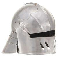 vidaXL Ridderhelm middeleeuws replica LARP staal zilverkleurig
