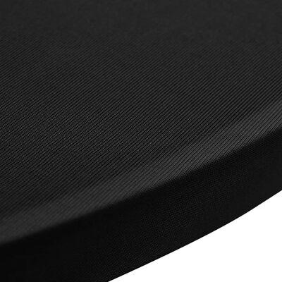vidaXL Statafelhoes 4 st stretch Ø80 cm zwart