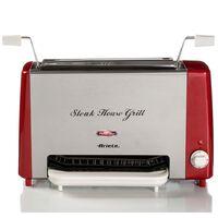 Ariete Steakgrill Party Time 1300 W rood en zilverkleurig