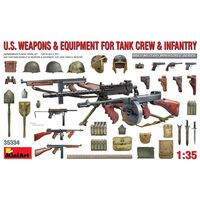 Miniart - 1/35 Us Weapons En Equipment Tank Crew En Infanry - Min35334