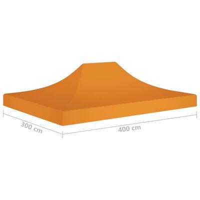 vidaXL Partytentdak 270 g/m² 4x3 m oranje