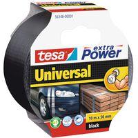 1x Tesa ducttape Extra Power universeel zwart 10 mtr x 5 cm -