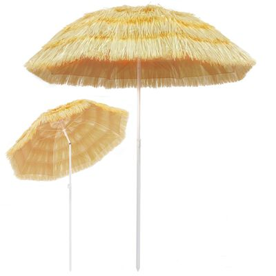 vidaXL Strandparasol Hawaï stijl 180 cm naturel