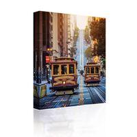Sound Art Canvas + Bluetooth Speaker San Francisco Trams