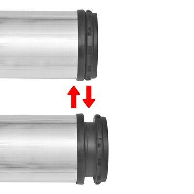 Tafelpoten in hoogte verstelbaar geborsteld nikkel 1100 mm 4 st
