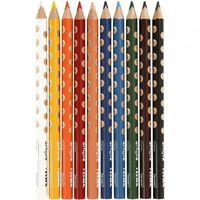 kleurpotloden Groove 10 stuks multicolor