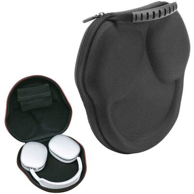 Waterdichte Airpods Max Case Met Siliconen Omhulsel Zwart / Transparan