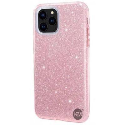 Apple Iphone 12 Glitter Roze Siliconen Gel Tpu / Back Cover / Hoesje
