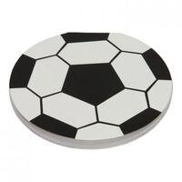 notitieboek voetbal jongens 8 cm papier zwart/wit