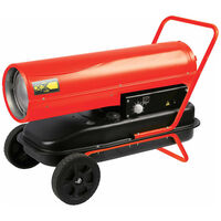 Perel Ruimteverwarming Diesel 30 kW rood FT130C