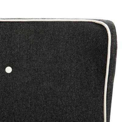 vidaXL Bed met traagschuim matras jute donkergrijs 90x200 cm