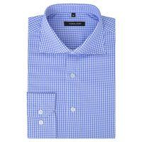 vidaXL Zakelijk overhemd heren wit en lichtblauw geblokt maat S