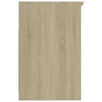 vidaXL Ladekast 40x50x76 cm spaanplaat wit en sonoma eikenkleurig