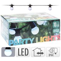 Party Lighting Feestverlichting - 10 lampen wit - 30 LED - 8