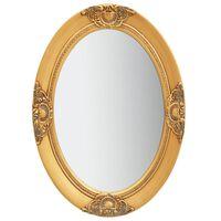 vidaXL Wandspiegel barok stijl 50x70 cm goudkleurig