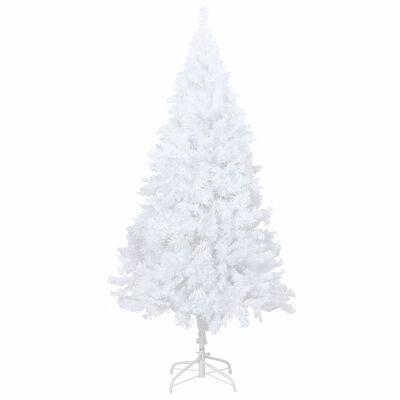 vidaXL Kunstkerstboom met dikke takken 210 cm PVC wit, White